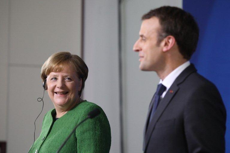 A Berlin, Emmanuel Macron peine à convaincre Angela Merkel