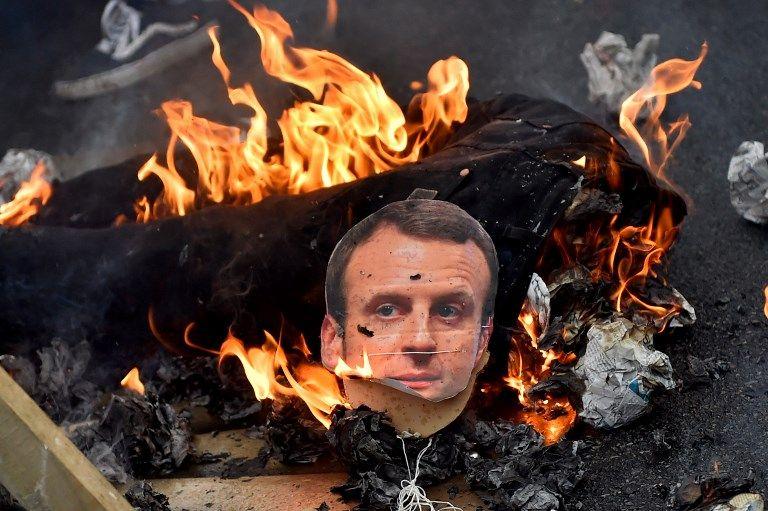 """Un mannequin à l'effigie d'Emmanuel Macron brûlé à Nantes, LREM fustige un """"appel au meurtre"""""""