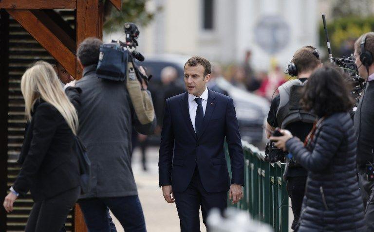 Emmanuel Macron à Berd'huis.