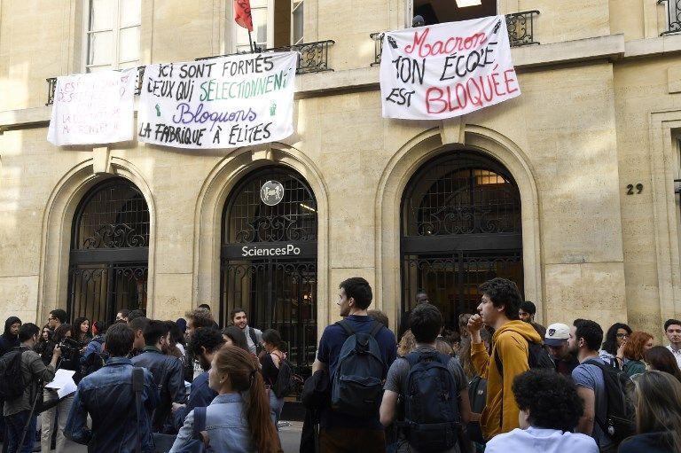 Contestation étudiante : Les locaux de Sciences Po Paris sont bloqués