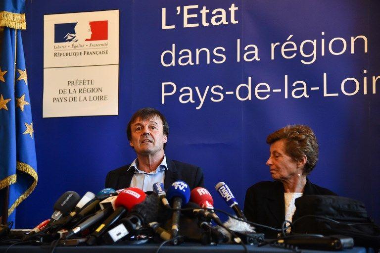 Nicolas Hulot appelle les zadistes à la raison lors d'une conférence de presse après une réunion majeure à Nantes