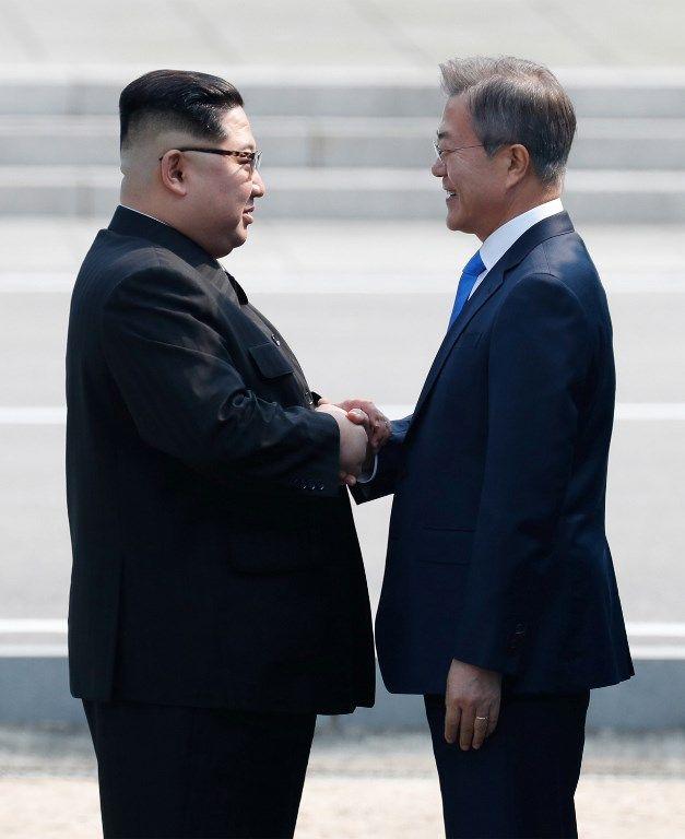 Corée : poignée de main historique échangée entre Kim Jong-un et le président sud-coréen