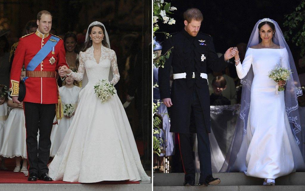 Des images des mariages du prince William et de Kate Middleton ainsi que du prince Harry et de Meghan Markle. Le prince William a tenu à défendre la famille royale britannique après les accusations de racisme.