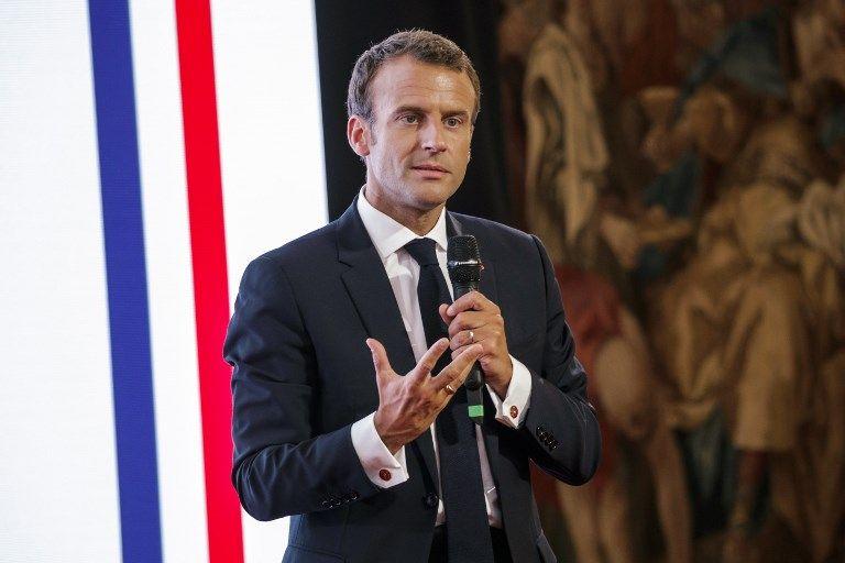 Emmanuel Macron lors d'une cérémonie officielle à l'Elysée.