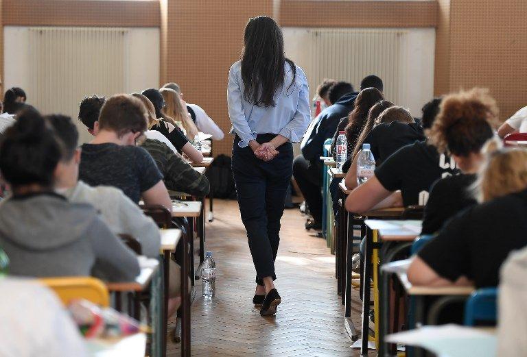 Des lycéens lors de l'épreuve de philosophie du baccalauréat.