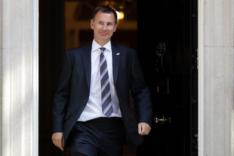 Grande-Bretagne : Theresa May nomme Jeremy Hunt ministre des Affaires étrangères