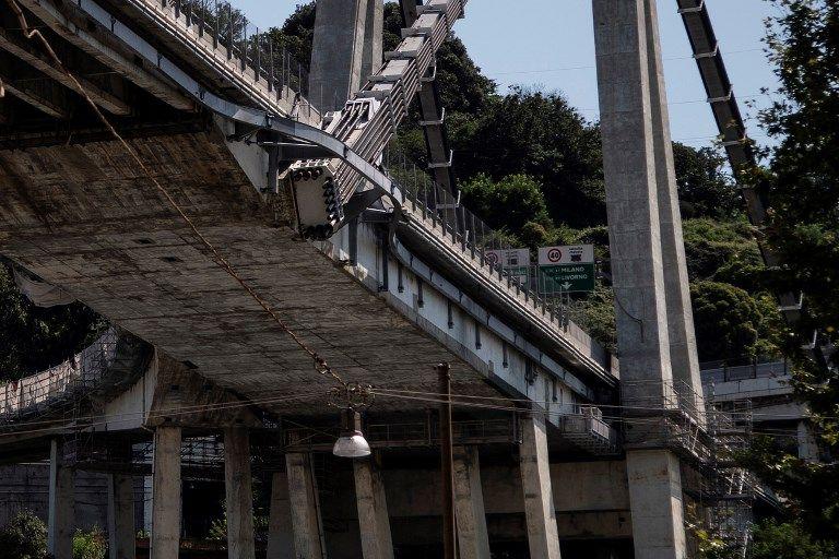 """Gênes : les opérations de déblaiement ont été interrompues après des """"craquements"""" sur le reste du pont Morandi"""