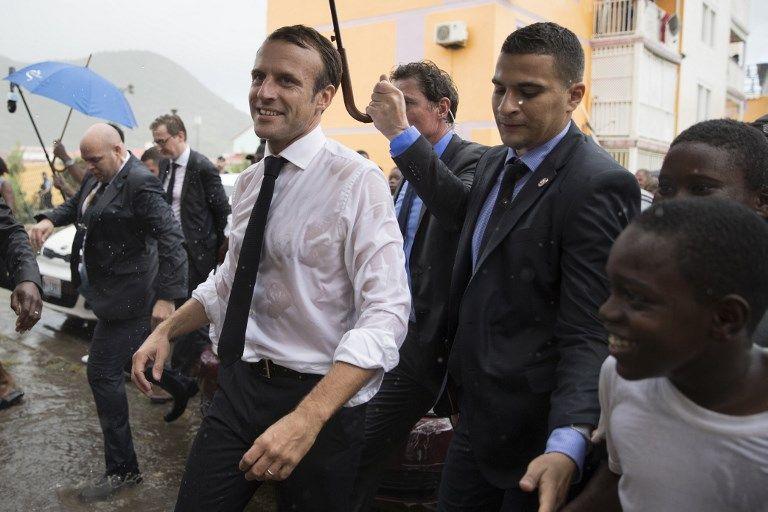 Emmanuel Macron assume les photos prises à Saint Martin