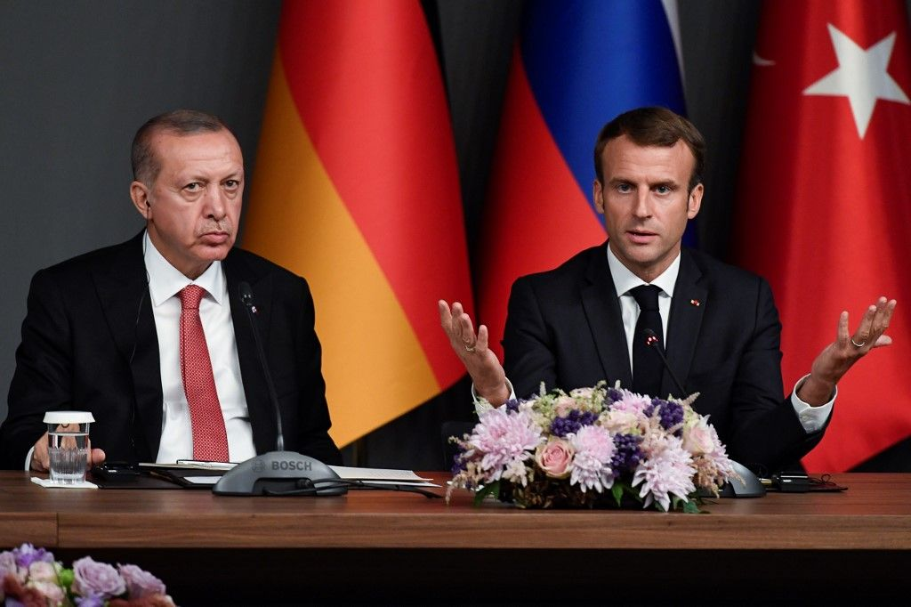 Emmanuel Macron Recep Tayiip Erodgan