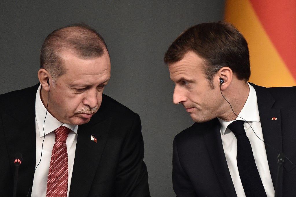 Recep Tayyip Erodgan Emmanuel Macron méditerranée Turquie France Europe Union européenne