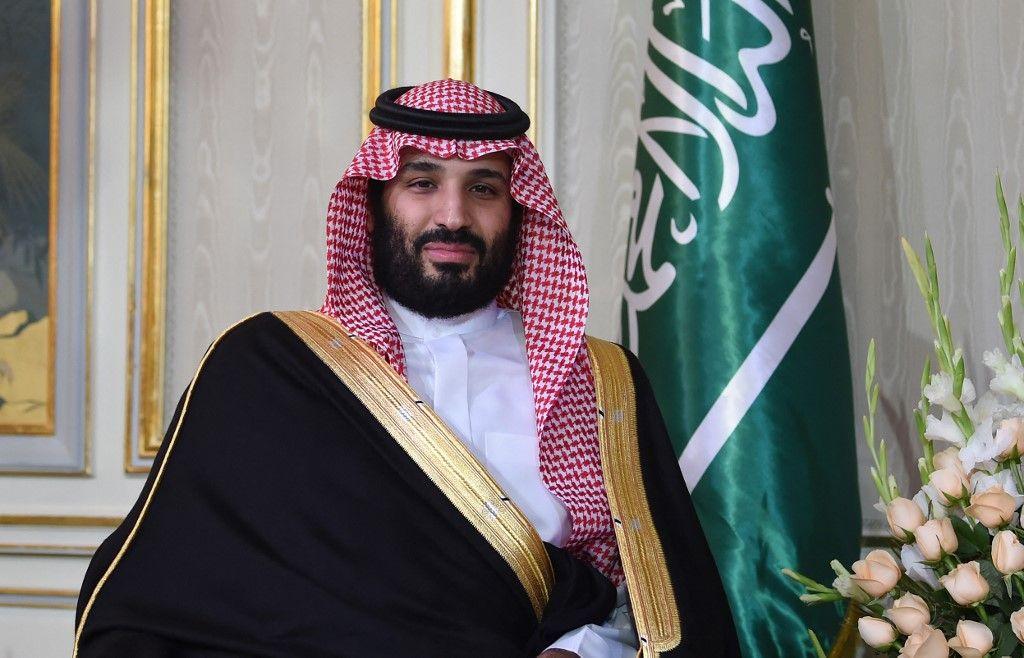 Le prince héritier d'Arabie saoudite Mohammed ben Salmane photographié lors de sa rencontre avec le président tunisien lors de son arrivée au palais présidentiel de Carthage le 27 novembre 2018.