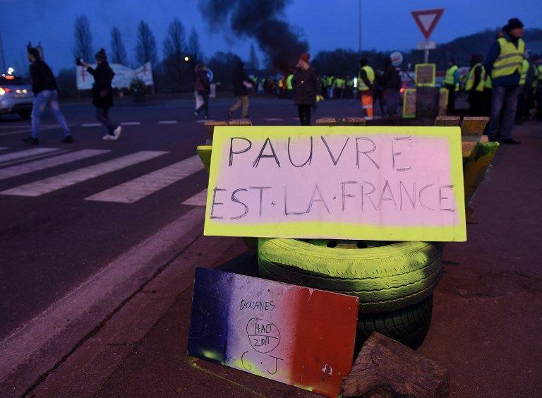 Manifestation de Gilets-Jaunes en France.