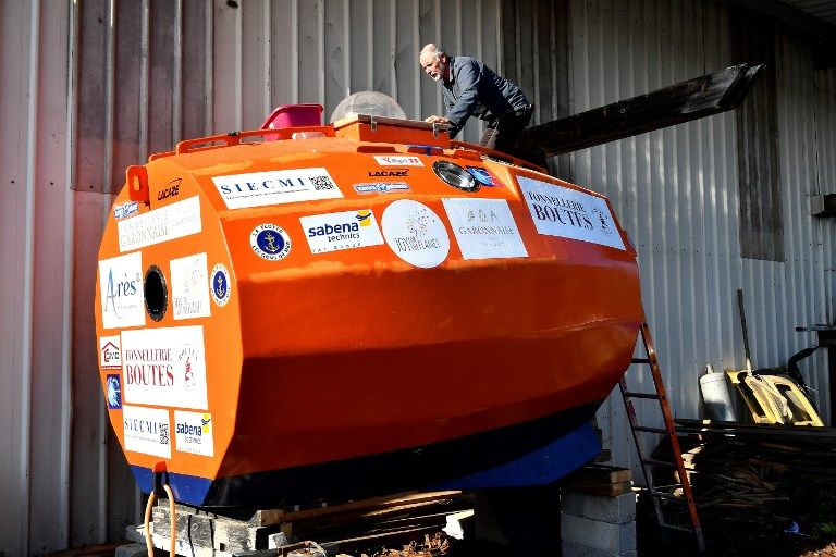 Jean-Jacques Savin va traverser l'Atlantique dans une embarcation en forme de tonneau