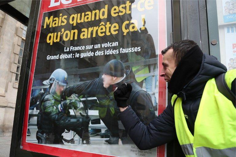 Gilets jaunes : le boxeur Christophe Dettinger représenté sur une fresque géante à Paris