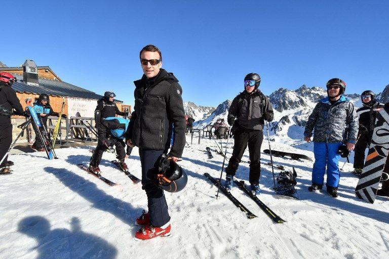Emmanuel Macron est aussi un adepte du ski