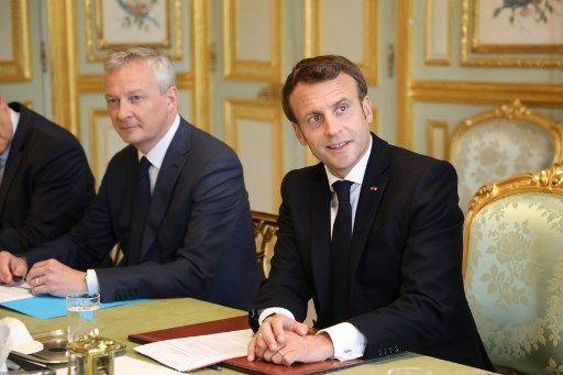 Emmanuel Macron et Bruno Le Maire lors du Conseil des ministres.