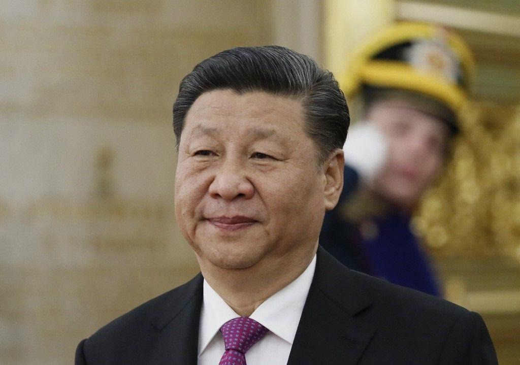 Le président chinois Xi Jinping arrive pour une rencontre avec son homologue russe au Kremlin à Moscou, le 5 juin 2019.
