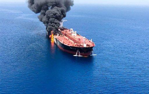 Attaque d'un pétrolier en mer d'Oman en juin 2019 (photo d'archive)