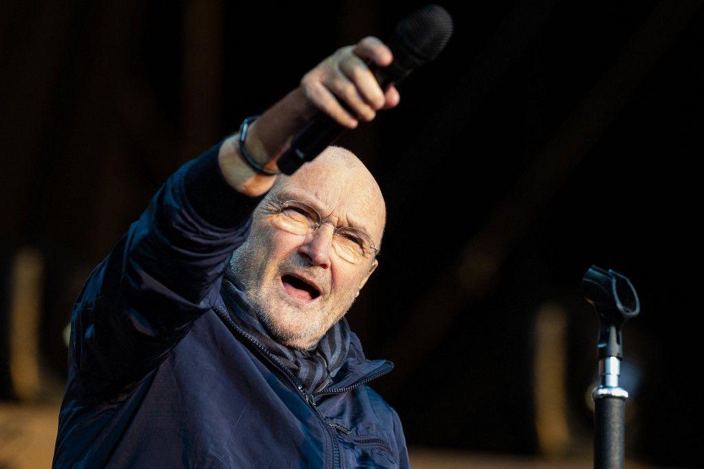 Le chanteur et musicien britannique Phil Collins.
