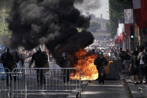 14 Juillet : incidents sur les Champs-Élysées après le défilé militaire