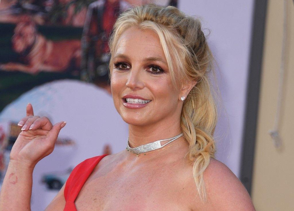 """La chanteuse Britney Spears arrive pour la première de """"Once Upon a Time... in Hollywood"""", le 22 juillet 2019."""