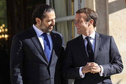 L'ancien Premier ministre libanaise Saad Hariri (ici avec Emmanuel Macron, en 2019), a renoncé à former un nouveau gouvernement.