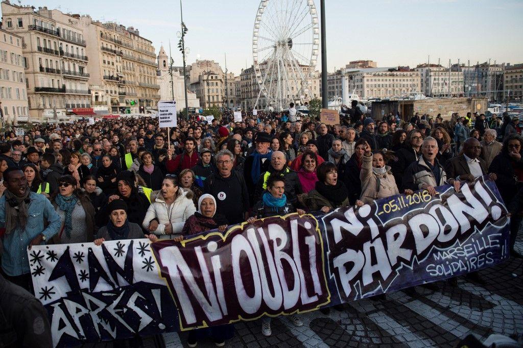 Marseille : des milliers de manifestants mobilisés un an après le drame de la rue d'Aubagne