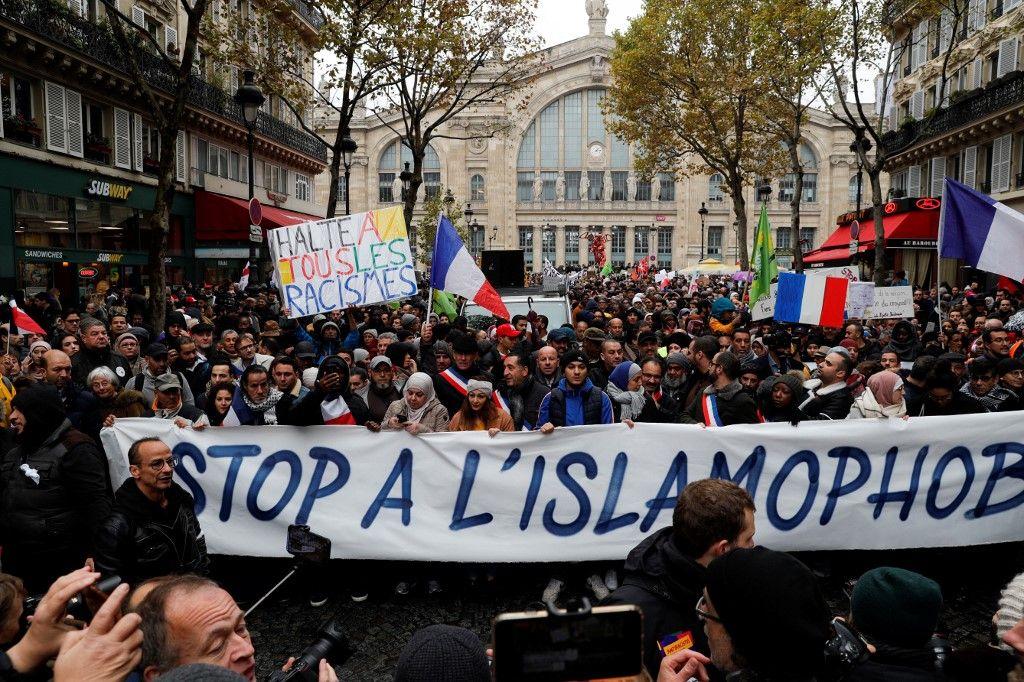 Marche contre l'islamophobie : 13.500 manifestants ont été recensés à Paris