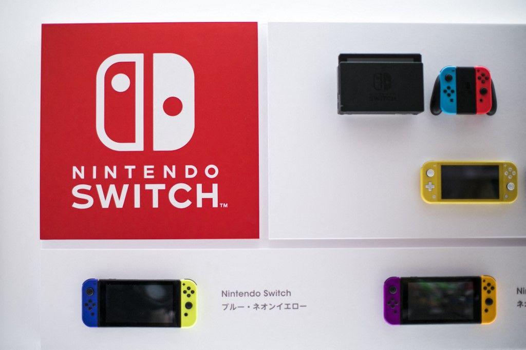 La console Nintendo Switch est exposée dans un nouveau magasin Nintendo à Tokyo le 19 novembre 2019.