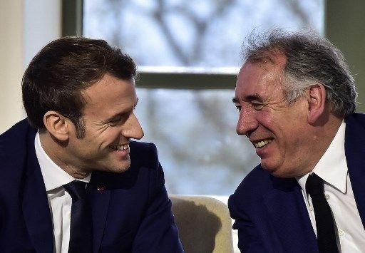 Emmanuel Macron et François Bayrou.