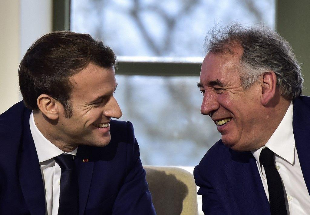 Emmanuel Macron et François Bayrou en janvier 2020.