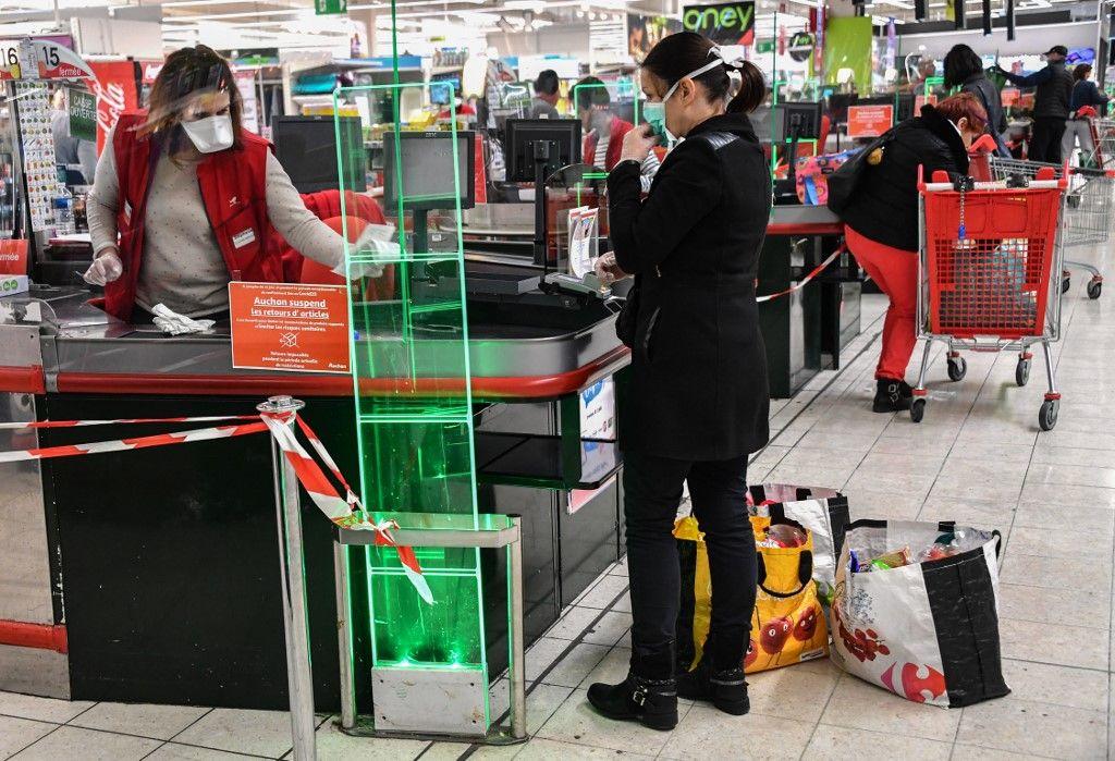 supermarché coronavirus