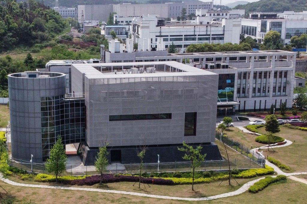 Une vue aérienne du laboratoire P4 de l'Institut de virologie de Wuhan, dans la province centrale du Hubei en Chine, le 17 avril 2020.