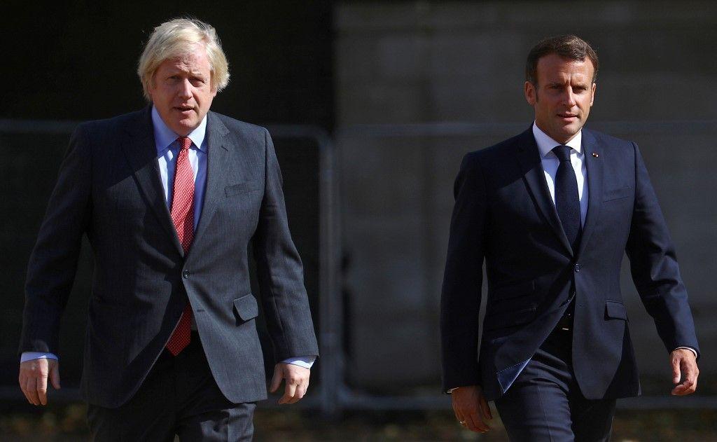 Emmanuel Macron et Boris Johnson à Londres