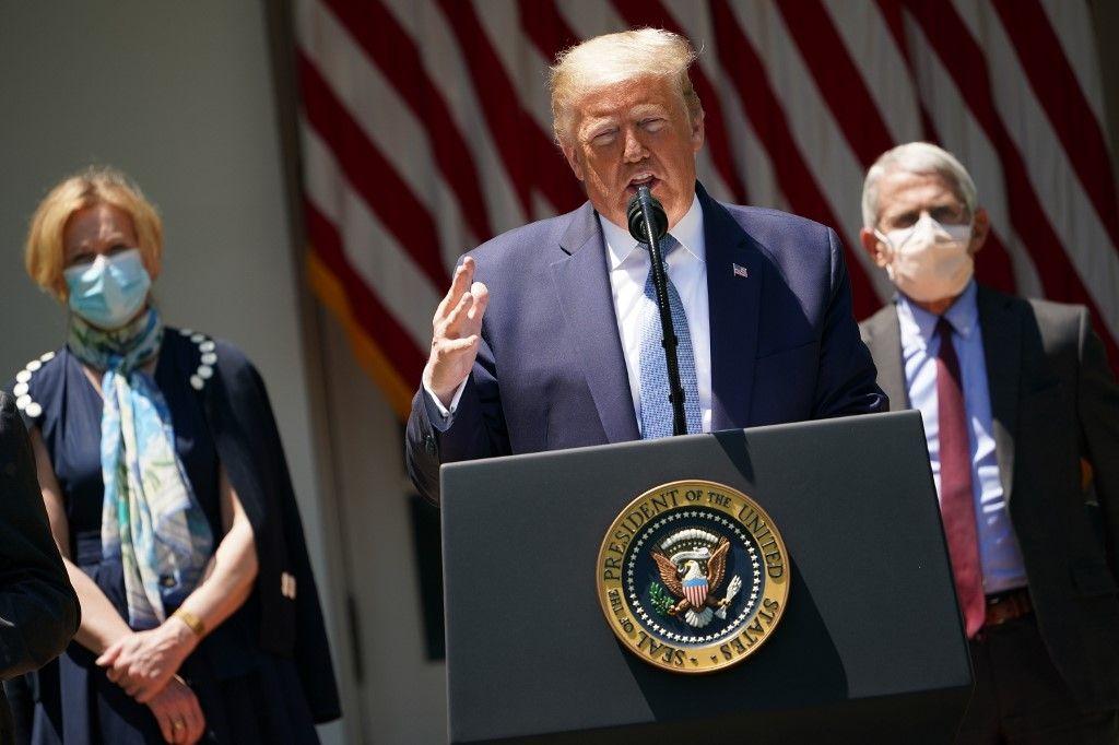 Donald Trump Etats-Unis coronavirus covid-19