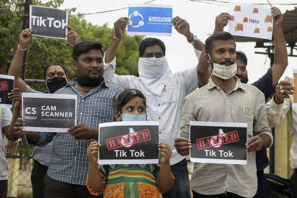 """L'Inde décide d'interdire 59 applications chinoises, dont TikTok et WeChat, pour raisons de """"sécurité"""""""
