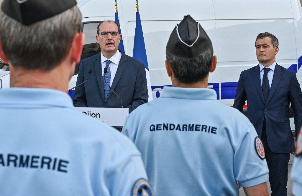 Jean Castex Gérald Darmanin gendarmes