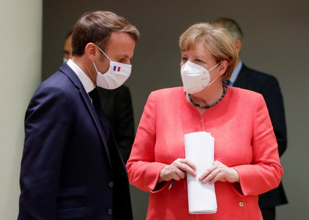 Angela Merkel Emmanuel Macron Europe plan de relance