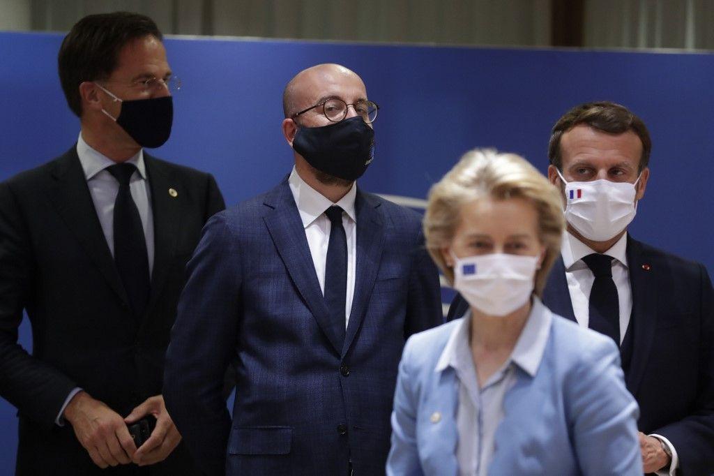 Europe conseil européen emmanuel macron ursula von der leyen