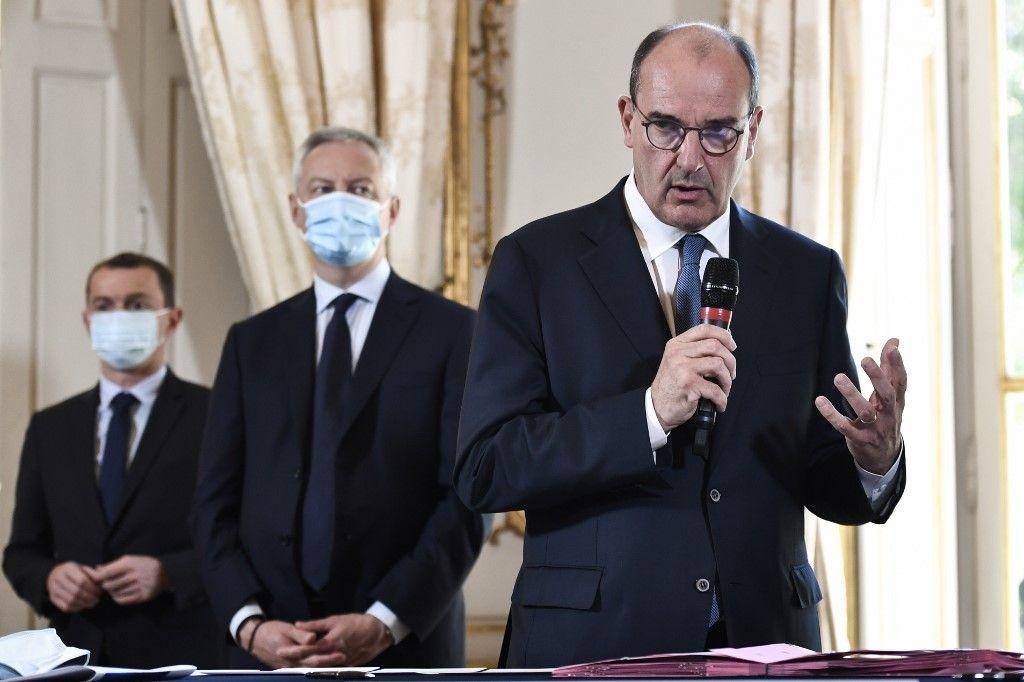 Jean Castex Bruno Le Maire économie dette coronavirus covid-19 plan  de relance activité