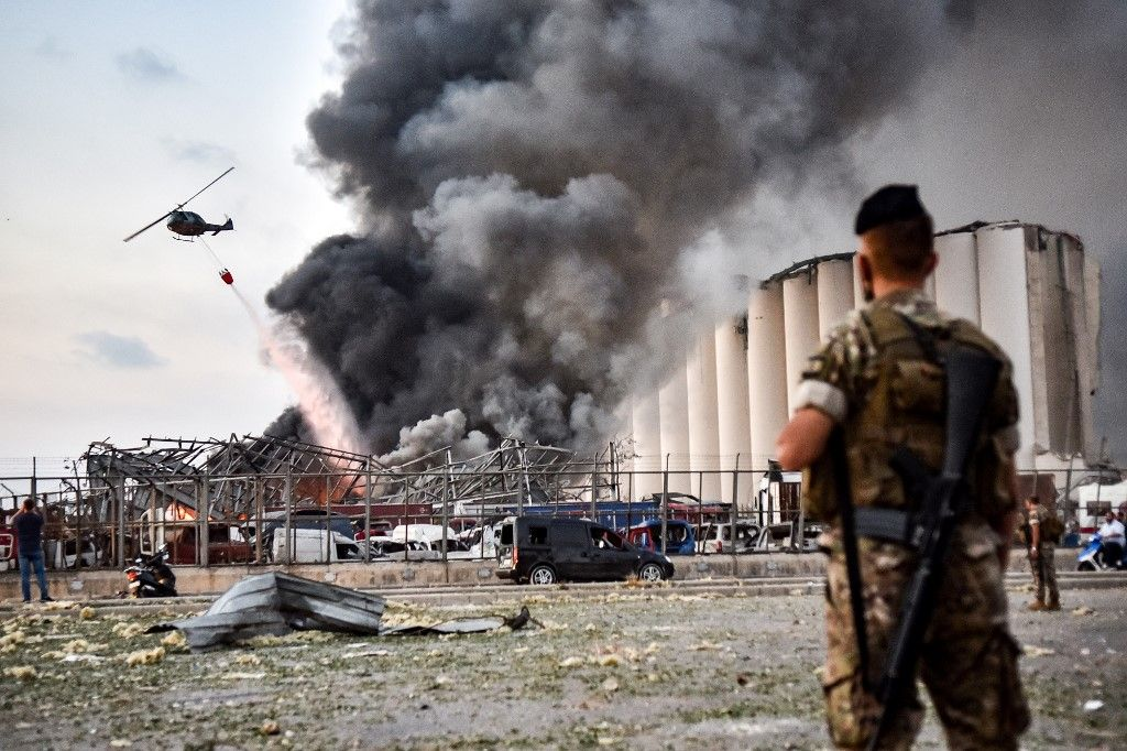 Liban Beyrouth explosion port