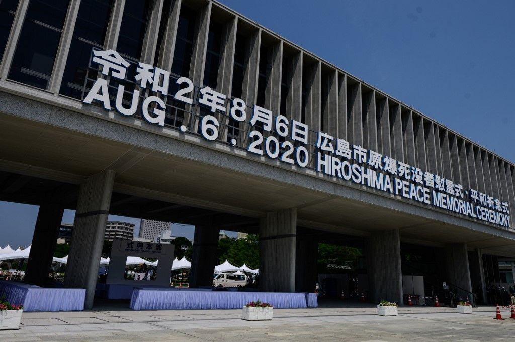 Hiroshima hommage aux victimes août 2020 75 ans bombes atomiques Japon