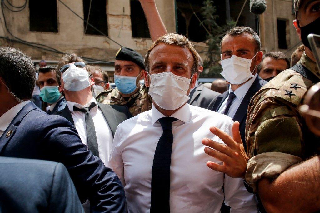 Emmanuel Macron à Beyrouth le 12 août 2020