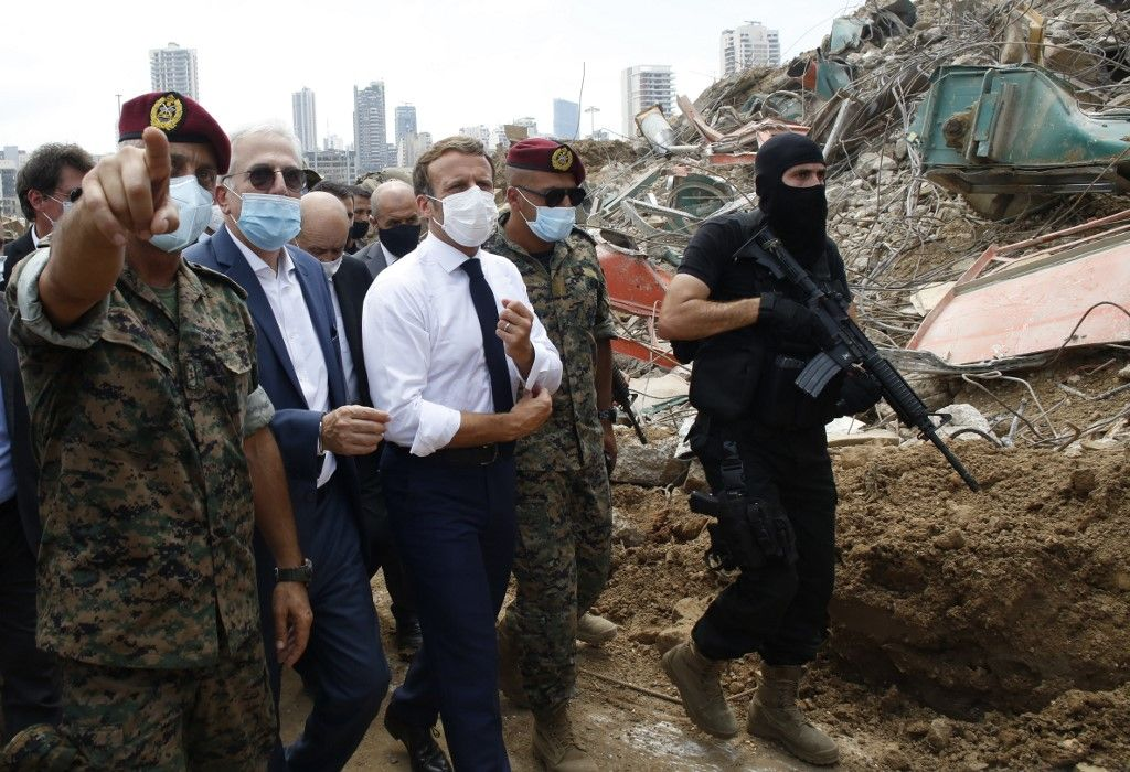 Emmanuel Macron Liban Beyrouth visite explosions