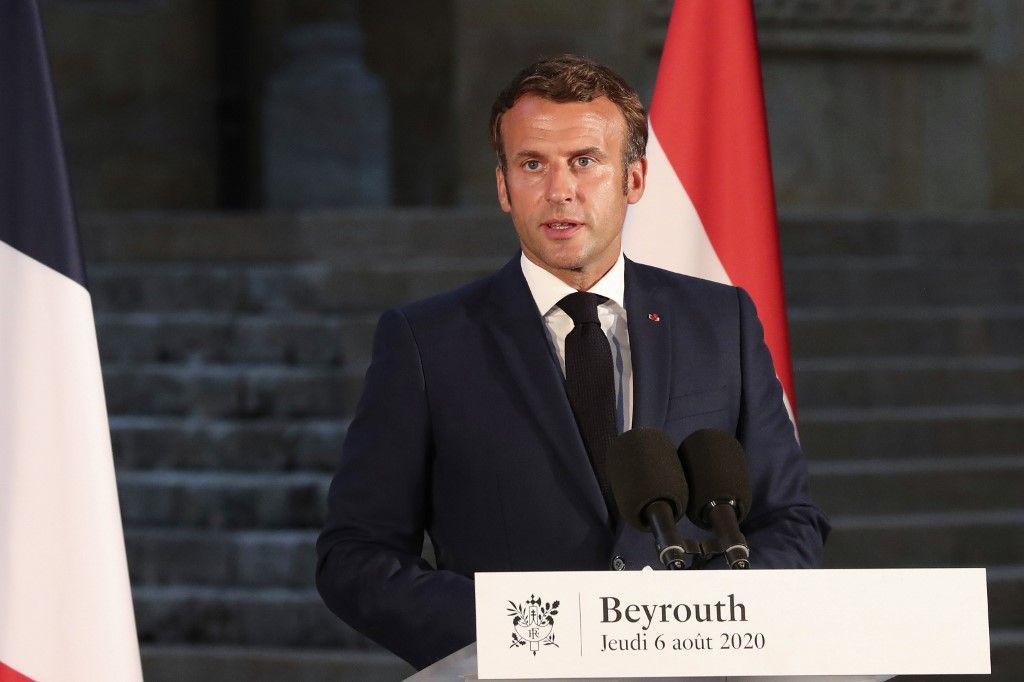 Emmanuel Macron Liban Beyrouth conférence de presse
