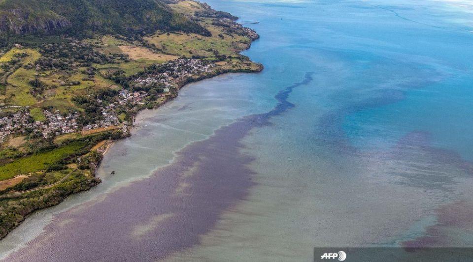 Ile Maurice : des images aériennes montrent l'étendue de la marée noire qui menace