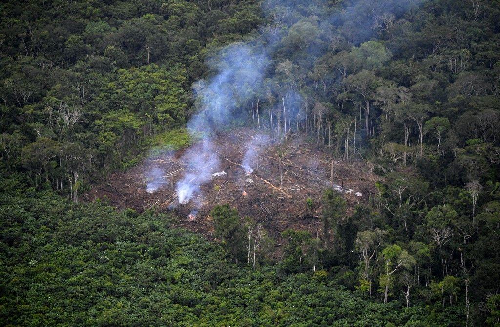 Une zone victime de déforestation, en Colombie.