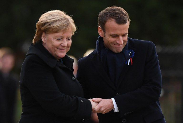 Armistice de 1918 : Macron et Merkel ont inauguré une nouvelle plaque commémorative à Rethondes