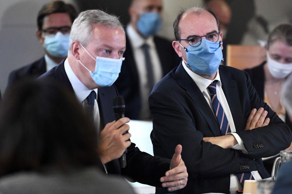 Bruno Le Maire Jean Castex projet de loi de finances plf 2021