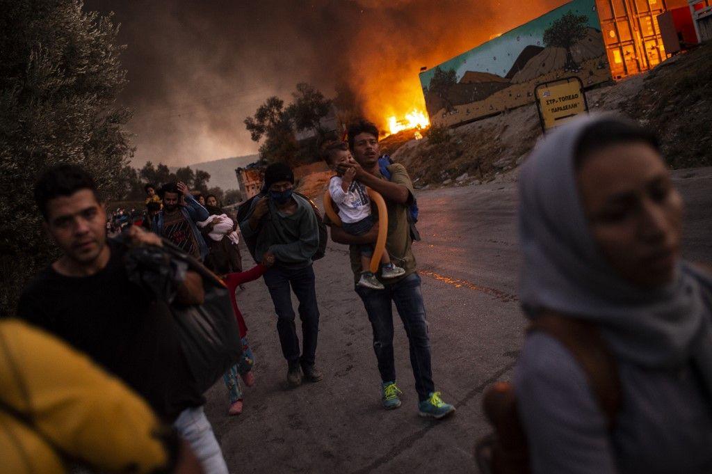 camp de moria migrants immigration Grèce
